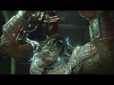 Batman Return to Arkham Asylum Killer Croc Boss Fight Remastered (Batman Arkham Asylum Remastered)