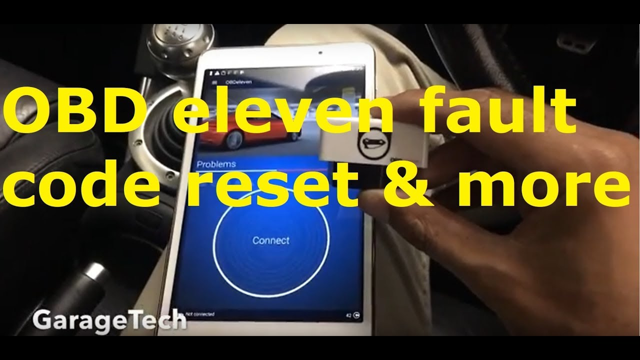 OBD eleven demo, fault code read & reset, output test & live data