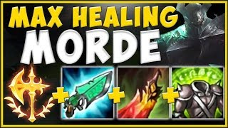 LIVE THROUGH ANYTHING! INFINITE HEALING MORDE BUILD 100% NEEDS NERFS! - League of Legends Gameplay