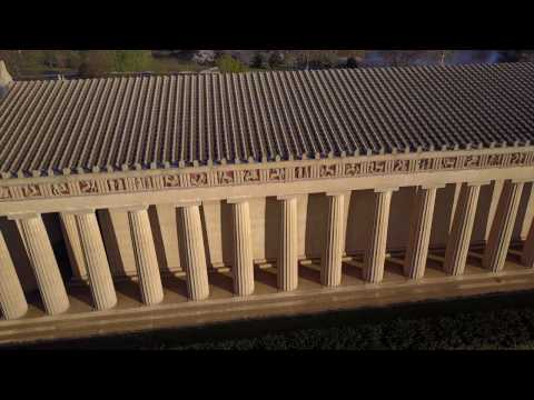 """Drone / Aerial Footage of """"The Parthenon"""" in Centennial Park, Nashville, TN"""