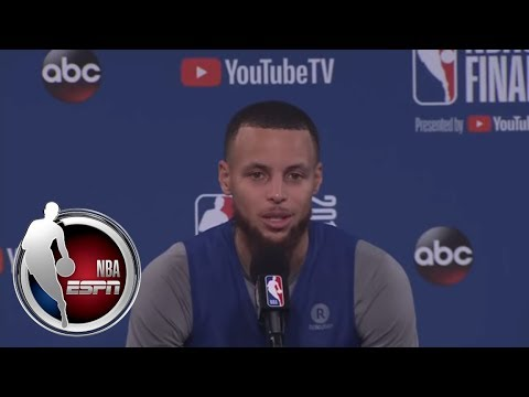 full-steph-curry-talks-about-klay-thompsons-injury-warriors-focus-in-game-2-nba-on-espn