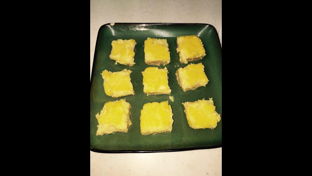 Tresen makes simple lemon bar recipe w herbalife vanilla protein ...