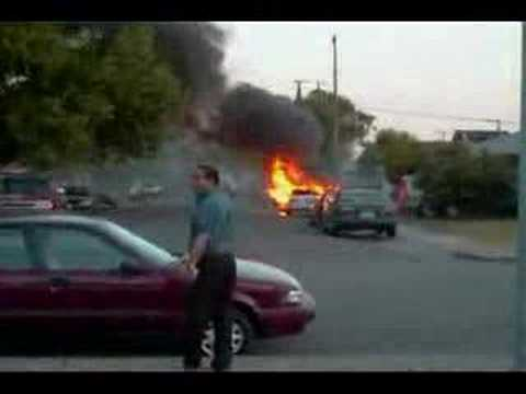 Jazzy Car On Fire Youtube