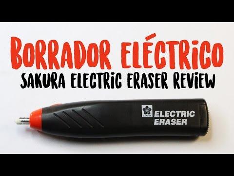 BORRADOR ELÉCTRICO (Sakura Electric Eraser review) | Diana Díaz