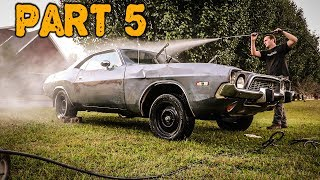 ABANDONED Dodge Challenger Rescued After 35 Years Part 5: How Rusty Is It?