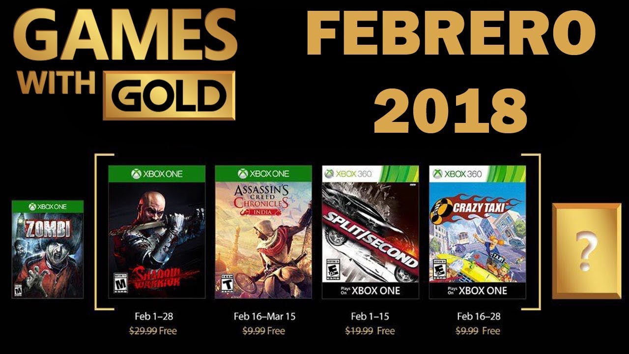 Games With Gold Xbox One Y Xbox 360 Febrero 2018 Youtube