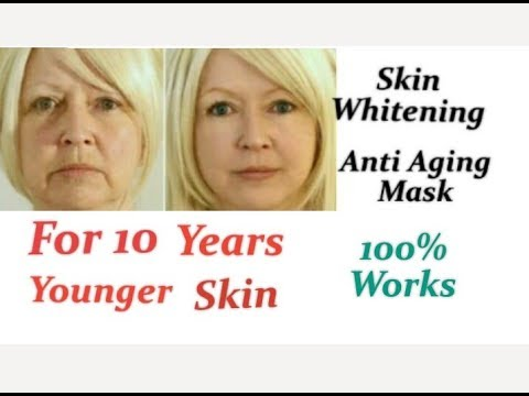 Anti Aging Face Mask for 10 years Younger Skin/Korean secret to Glass Skin