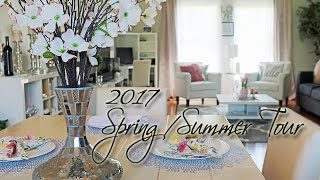 NEW Living & Dining Room Tour | Spring/Summer 2017 | Dose of Diana