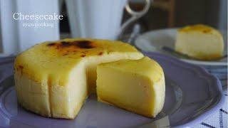 [オーブンなし・材料4つでチーズ生地] チーズ蒸しケーキを使用した!贅沢なベイクドチーズケーキ作り方 No ovenCheesecake 치즈 케이크