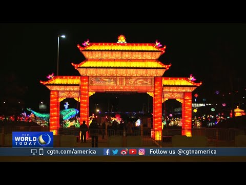 'Dragon Lights' lantern festival draws crowds in Chicago