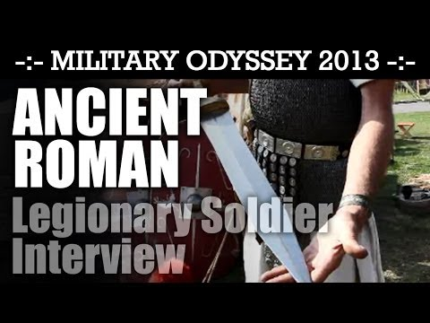 Roman Legionary Interview THE BEST INTERVIEW EVER! Military Odyssey 2013 | HD Video