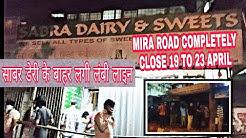 Sabra dairy k baahar lagi lambi line Mira Road Completely Lockdown ||Naya Nagar Mira Road||