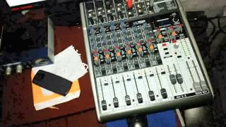 Esquema de instalação mesa de som e transmissão Web Rádio.