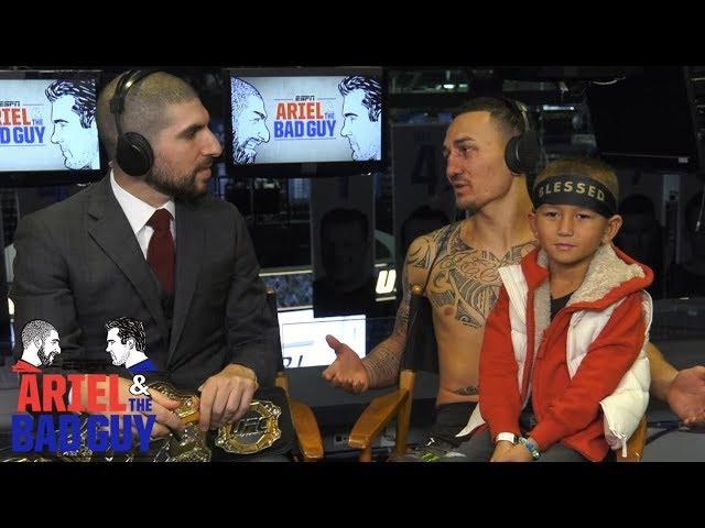 Max Holloway & Mini Blessed talk UFC 231   Ariel & The Bad Guy