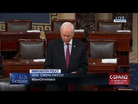 Framing This Week's Immigration Debate: Hatch on Merit-Based Immigration