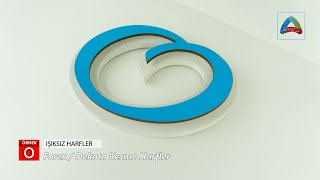 Forex - Dekota Işıksız Kesme Harfler 20mm  8mm - Örnek O - Full HD1080p