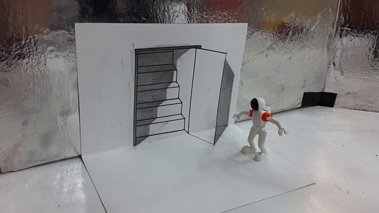 Download Cara Buat Gambar 3d Di Dinding Skipjpg