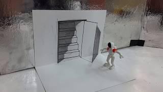 Belajar cara menggambar 3D di kertas untuk pemula dengan mudah MENGGAMBAR PINTU