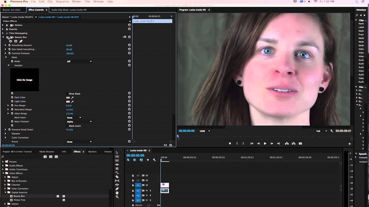 Beauty Box Video 4 0 Skin Retouching Plugin: Adobe Premiere Pro Intro