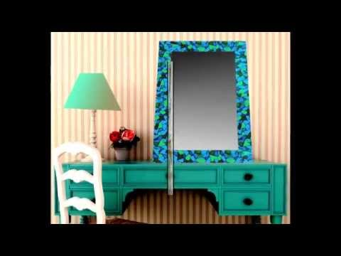 Ideas de decoraci n con espejos espejos vitral youtube - Decoracion con espejos ...