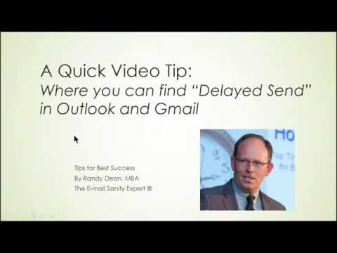 """Using """"Delayed Send"""" For E-mails In MS Outlook And Gmail"""