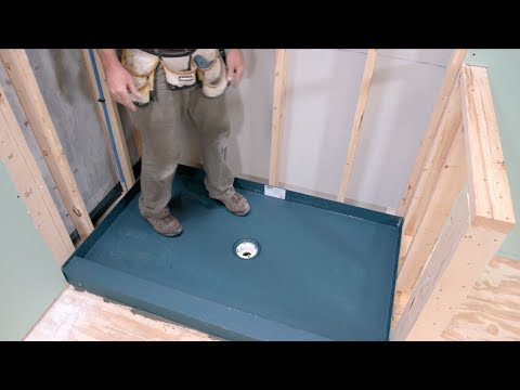 How to Install a Shower Pan with a KBRS Tile-Basin®