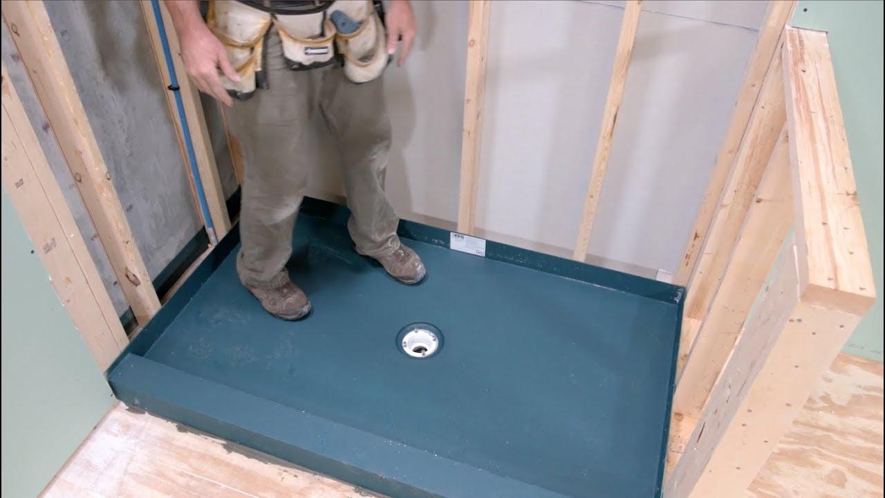 Shower Pan With A Kbrs Tile Basin