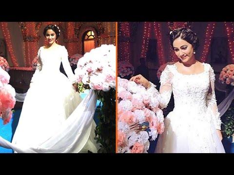 Akshara Aka Hina Khan STUNS In A White WEDDING GOWN