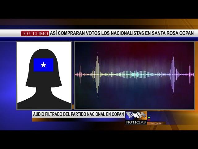 Difunden audio en el que se presume que nacionalistas compran votos en Copán