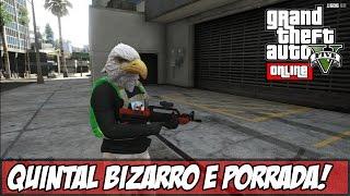 GTA V - Online - Luva de BOXE! Quintal Bizarro e PORRADARIA!