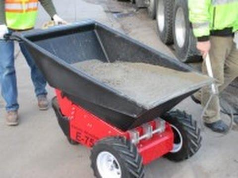 Contractors Heavy Duty Electric Wheelbarrow Youtube