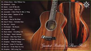 Acoustic Rock | Greatest Ballads & Slow Rock Songs 80s - 90s