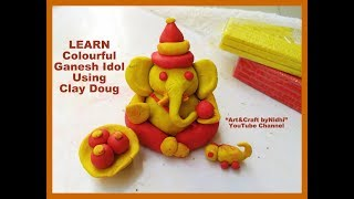 How To Make Colourful Ganesh Idol Using Clay Dough- Step by Step Video thumbnail