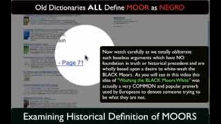 Old Dictionaries Define The MOORS  Race!