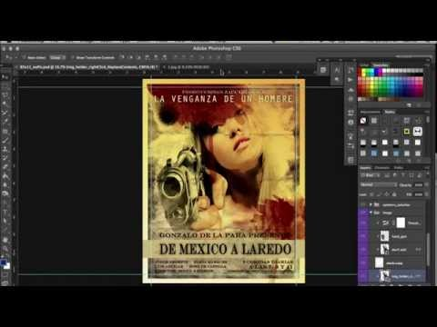 How to make a vintage desperado film poster with your face