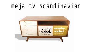 furniture meja tv jati scandinavian style