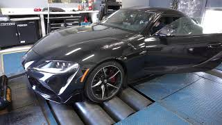 PURE Tuning Dyno Testing - 2020 MK5 A90 Supra - Stock v. Stage 1 v. Stage 2 using Bootmod3 OTS Maps