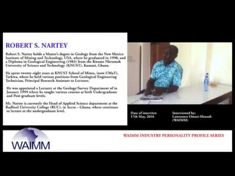 Meet Head of Applied Science department R S Nartey, Radford University College, Accra - Ghana