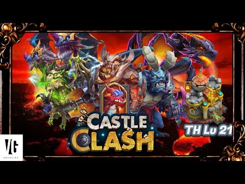 Castle Clash HBM AA Setting Up Base And Heroes!!!