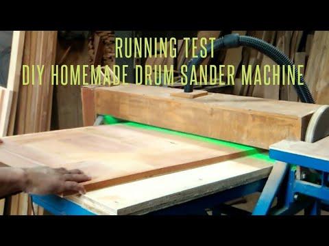 Mesin Planer Kayu Rakitan Sendiri - Drum Sander Homemade