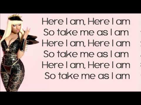 Nicki Minaj - Here i am LYRICS