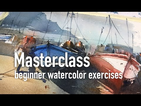Masterclass - beginner watercolor exercises