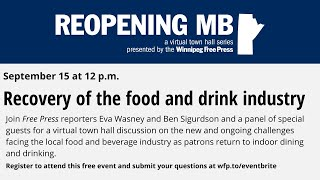 Reopening MB: Recovery of the food and drink industry