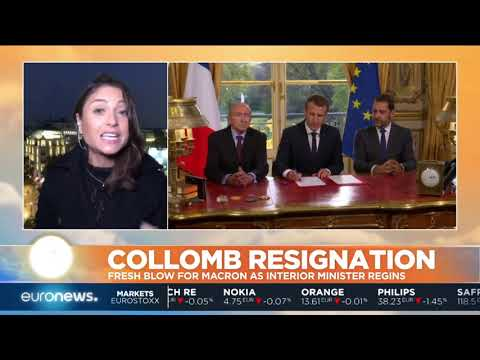 #GME   Fresh blow for Macron as Interior Minister Gerard Collomb resigns