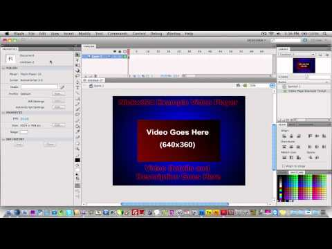 How to make an adobe flash video player.