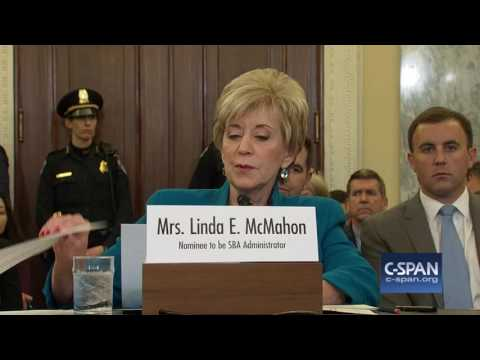Small Business Administrator Nominee Linda McMahon Opening Statement (C-SPAN)