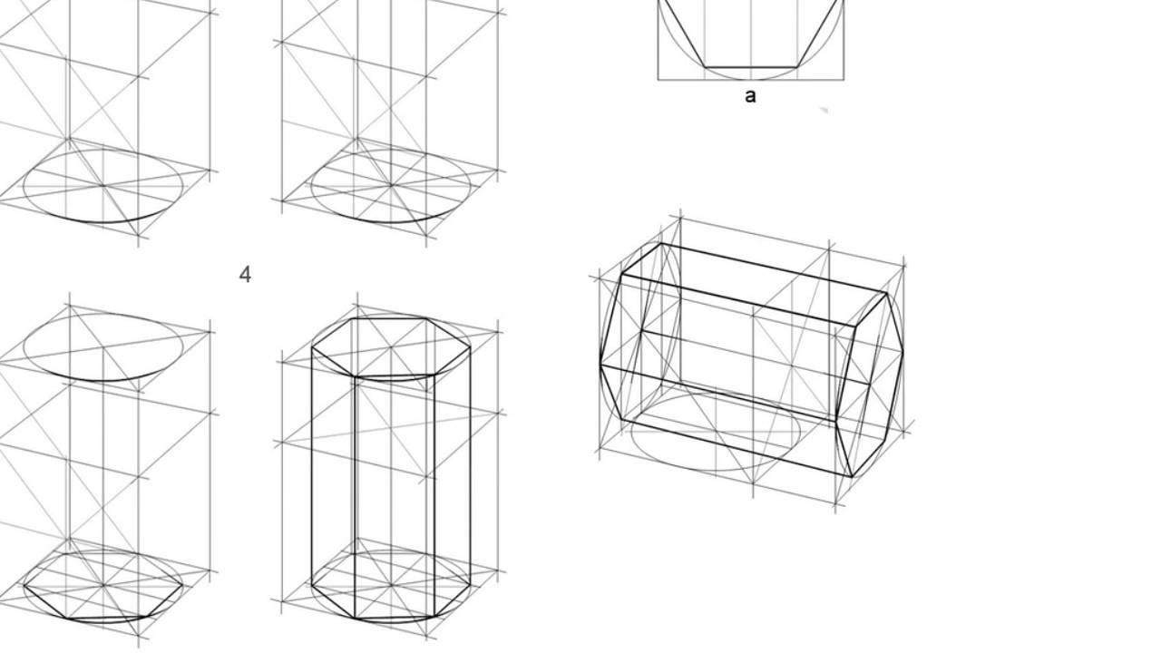 Рисовать шестигранную призму
