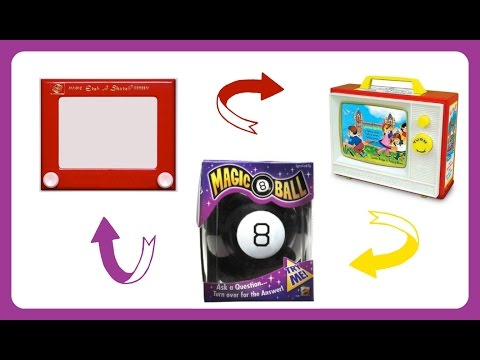 What's Inside Vintage Toys x 3? Magic 8 Ball, Etch A Sketch & Two-Tune TV
