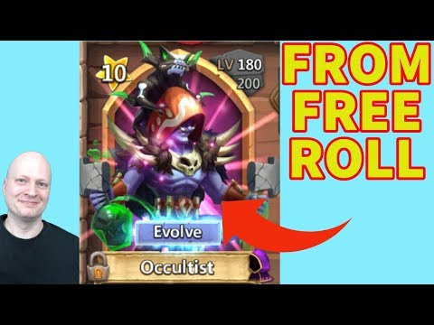 Occultist From Free Roll On F2p Account | Castle Clash | New Hero