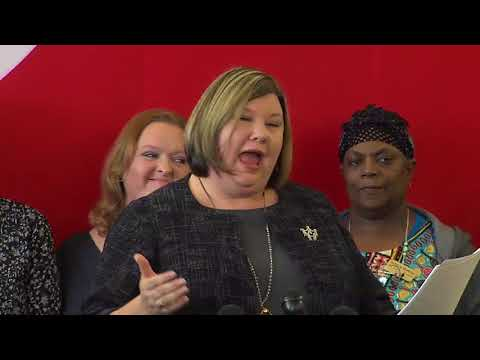 Full OEA press conference, demanding pay raise for teachers and school staff